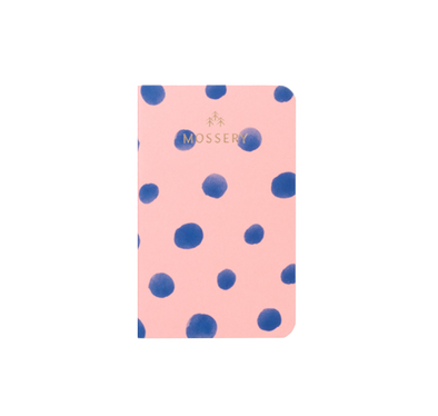 Pink Polka Dots Pocket Notebook by Mossery
