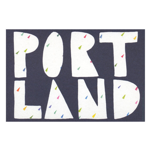 Portland Triangles Postcard by Indoor Studies