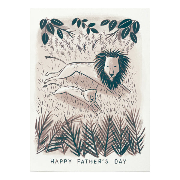 Lion and Cub Father's Day Card by Quill & Fox