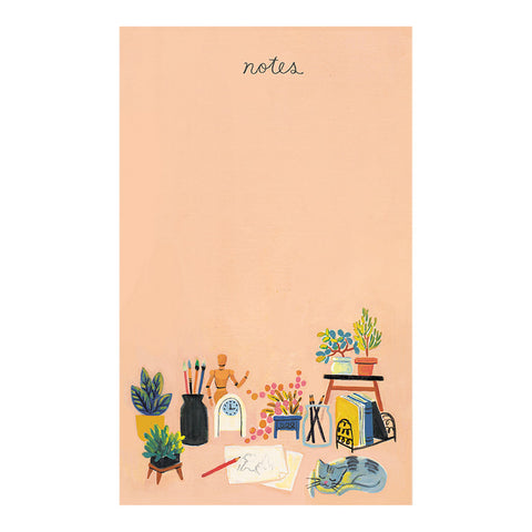 Pink Notepad by Quill & Fox