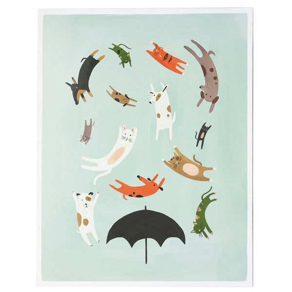 Quill & Fox Raining Cats and Dogs Print