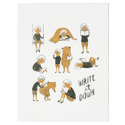 Quill & Fox Write It Down Print