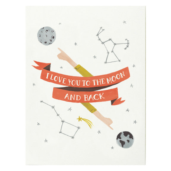 Moon and Back Card by Quill & Fox