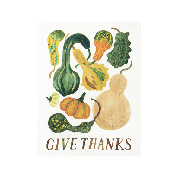 Give Thanks Autumn Gourd Card by Quill & Fox