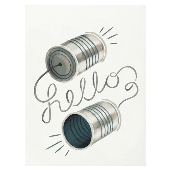 Tin Can Hello Card by Quill & Fox