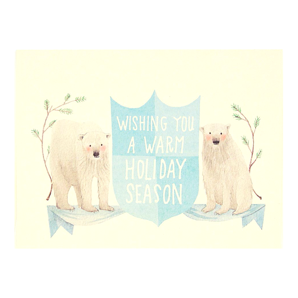 Polar Bear Holiday Crest Card by The Regional Assembly of Text