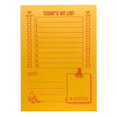Hit List Notepad by Risotto