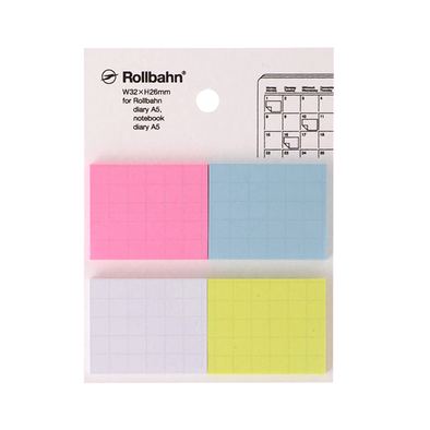 Rollbahn Extras Four Color Set Sticky Notes Medium by Delfonics