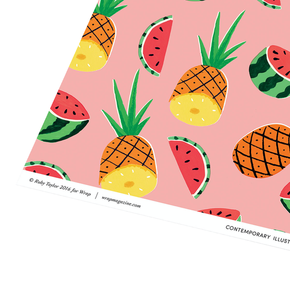 Ruby Taylor Pineapples & Watermelons Wrapping Paper by Wrap