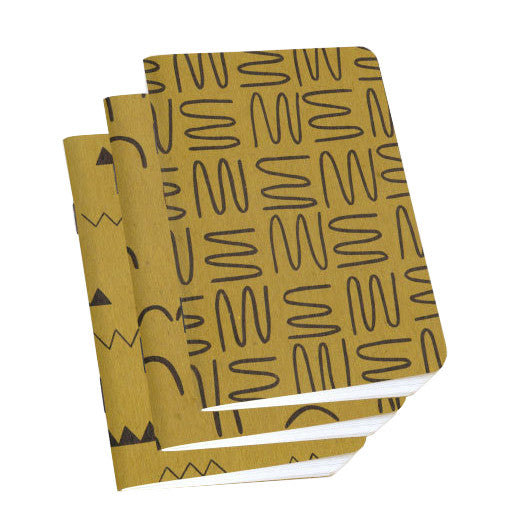 Ochre Mixed Notebook 3-Pack by Scout Books