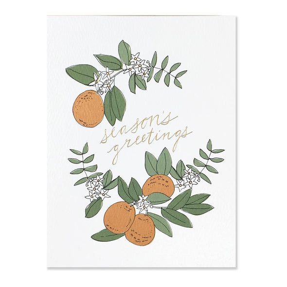Season's Greetings Oranges Card by Hartland