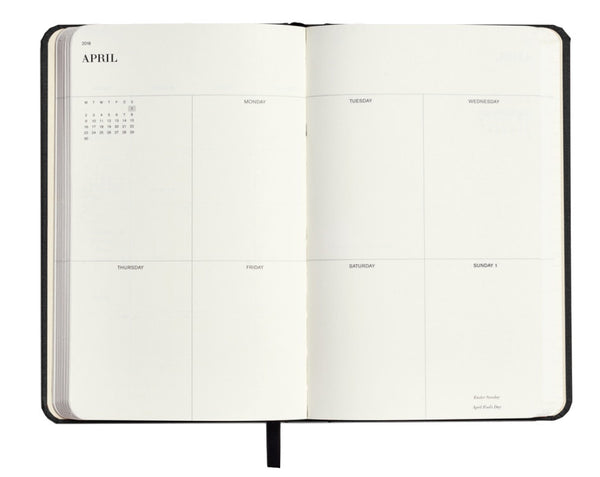 Shinola 18 Month Runwell Planner weekly spread