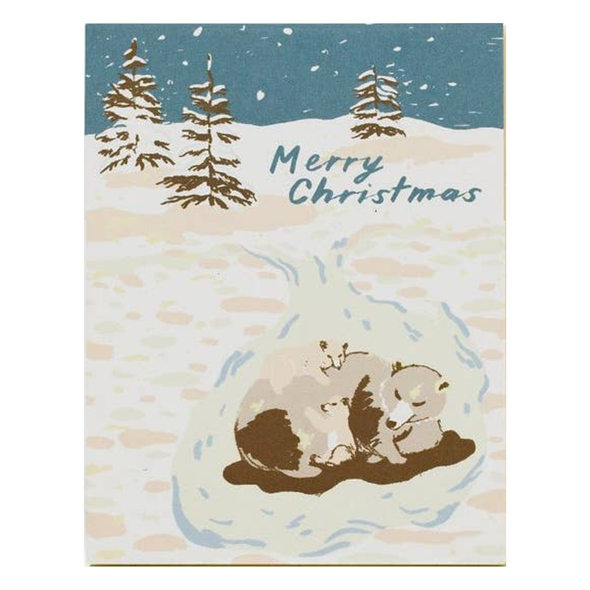 Bears Merry Christmas Card by Small Adventure