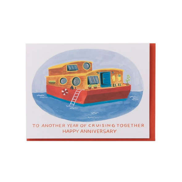 Houseboat Anniversary Card by Small Adventure
