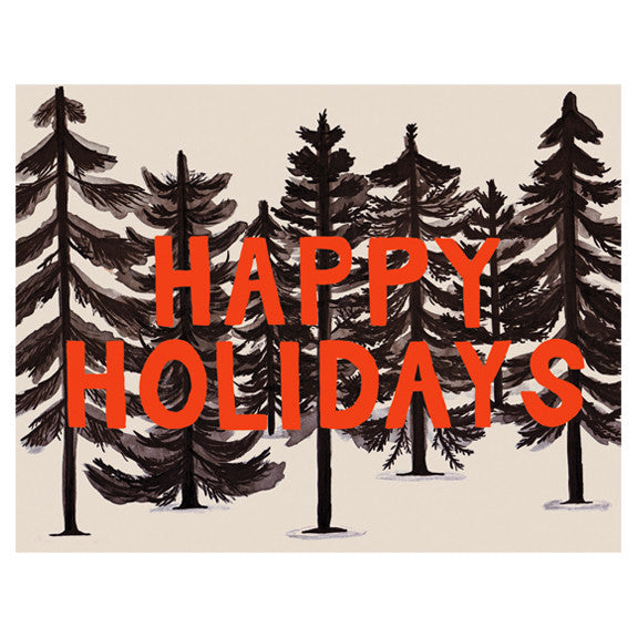 Inky Forest Happy Holidays Card Set by Small Adventure