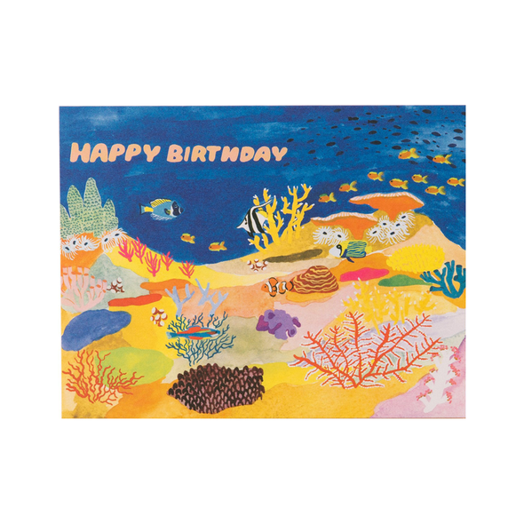 Coral Reef Birthday Card by Small Adventure
