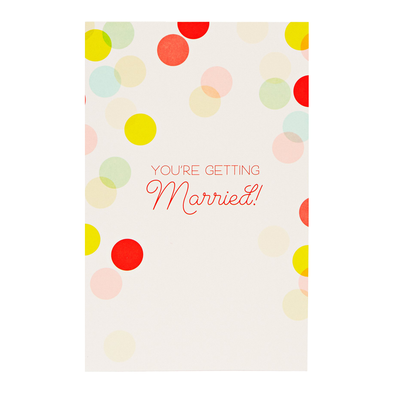 Wedding Confetti Card by Snow and Graham