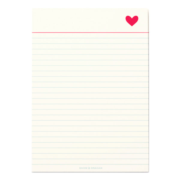 Heart Notepad by Snow & Graham