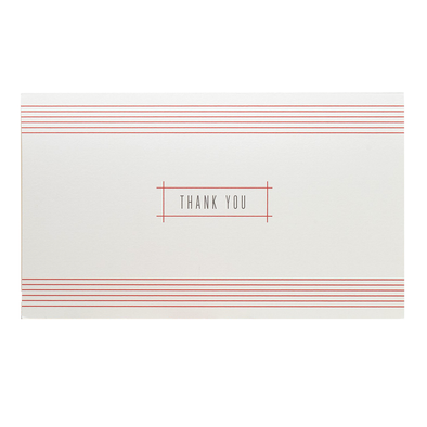 Red Stripe Thank You Card Set by Snow & Graham