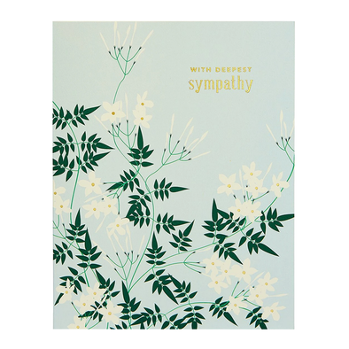 Deepest Sympathy Jasmine Card by Snow & Graham