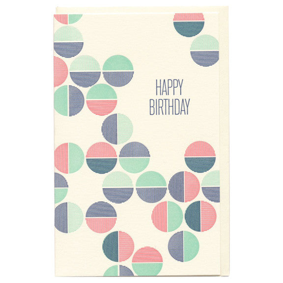 Birthday Circles Card by Snow & Graham