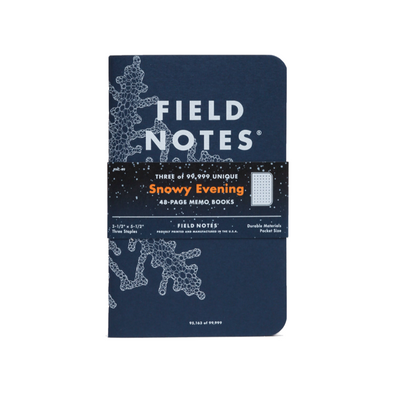 Snowy Evening 3-Pack Notebook Set by Field Notes