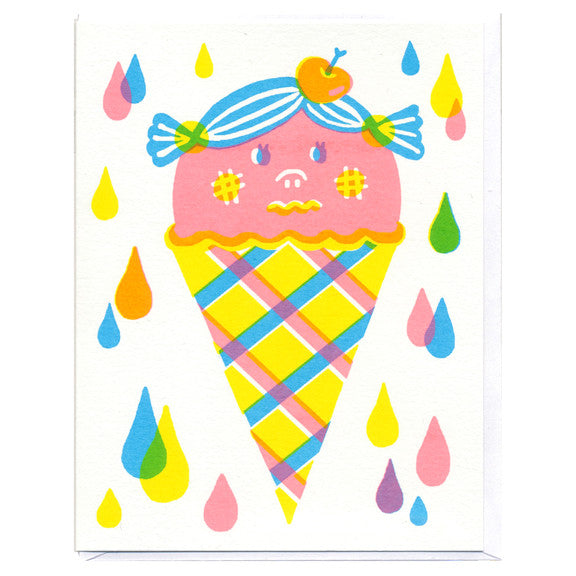 Strawberry Icecream Cone Card by Sue Jean Ko
