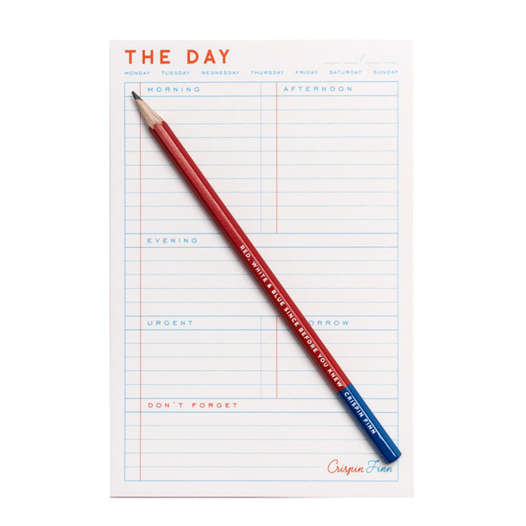 The Day Daily Planner Pad by Crispin Finn