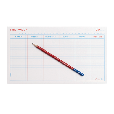 The Week Weekly Planner Pad by Crispin Finn