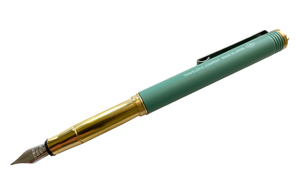 Limited Edition Factory Green Brass Fountain Pen by Traveler's Company
