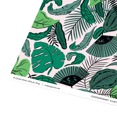 Tropical Leaves Gift Wrap Single Sheet by Wrap