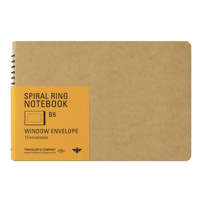Window Envelope Spiral B6 Notebook by Traveler's Company