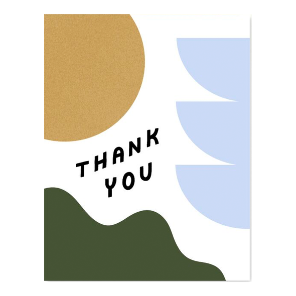 Thank You Shapes and Colors Card by Worthwhile Paper