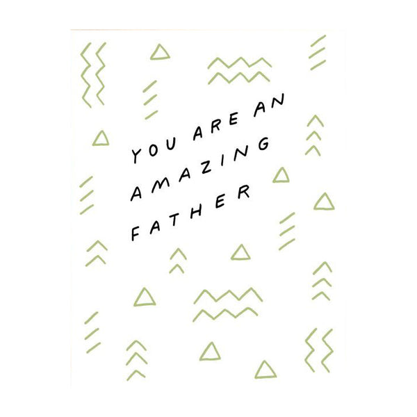 Amazing Father Screenprinted Card by Worthwhile Paper