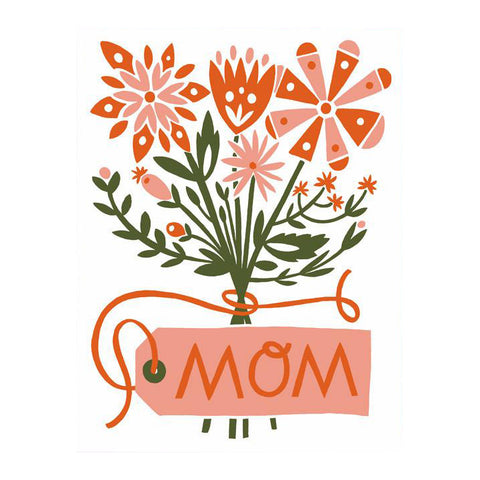 Mom Floral Bouquet Card by Worthwhile Paper