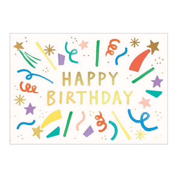 Charlotte Trounce Happy Birthday Burst Card by Wrap