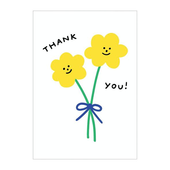 Holly St Clair Thank You Double Flowers Card by Wrap
