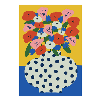 Karl-Joel Larsson Jumbo Flower Vase Card by Wrap