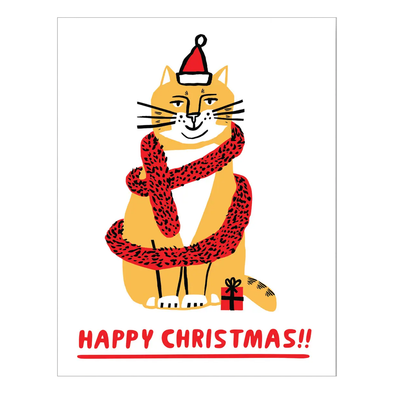 Sandi Falconer Christmas Cat Card by Wrap
