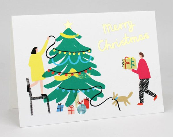 Charlotte Trounce Merry Christmas Tree Decorating Card by Wrap