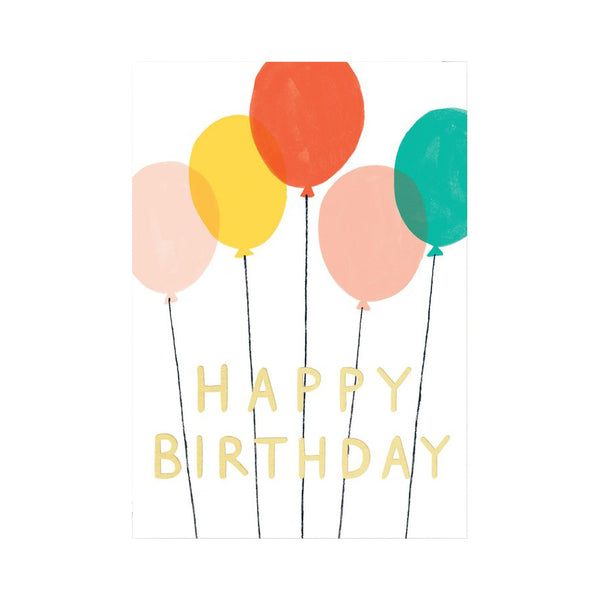 Charlotte Trounce Happy Birthday Balloons Card by Wrap