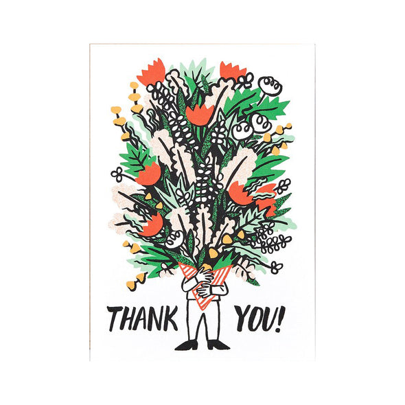 Cari Vander Yacht Bunch of Flowers Thank you Card by Wrap