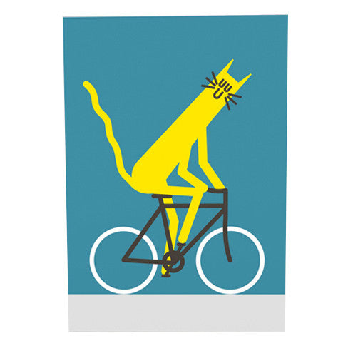 Dominic Owen Cycling Cat Card by Wrap