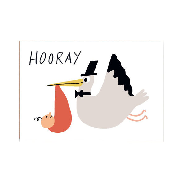 Elliot Kruszynski Hooray Stork Card by Wrap