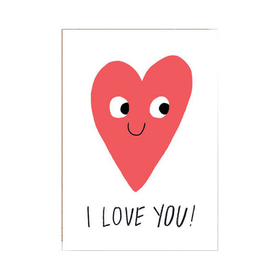 Elliot Kruszynski I Love You Card Heart by Wrap