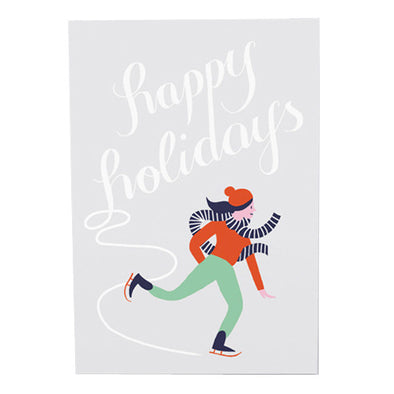 Karolin Schnoor Happy Holidays Skating Card by Wrap