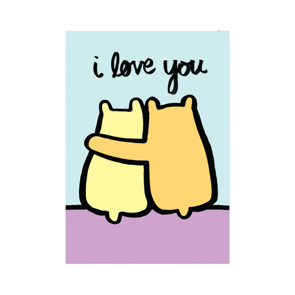Alice Bowsher I Love You Bears Card by Wrap