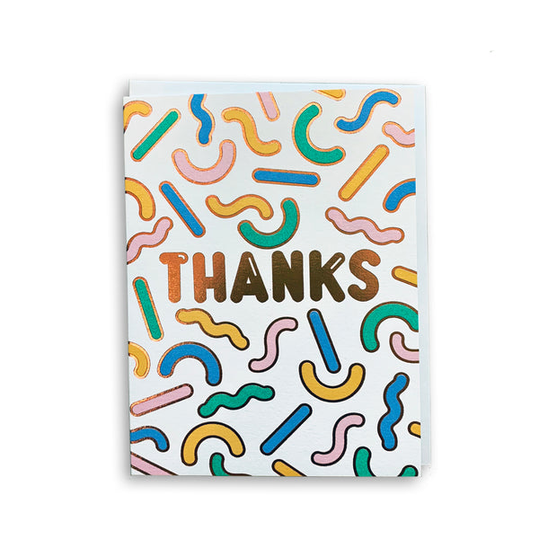 Rachel Peck Thanks Shapes Card by Wrap