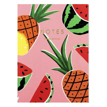 Pineapples & Watermelons Mini Notebook by Wrap