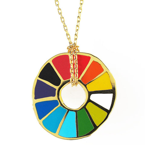 Color Wheel Pendant by Yellow Owl Workshop